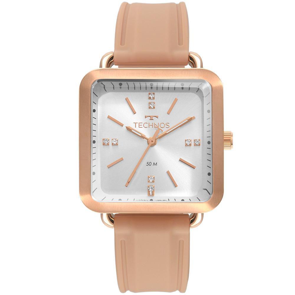 Relógio Feminino Technos Style 2036MMF/2J 34mm Silicone Rosé