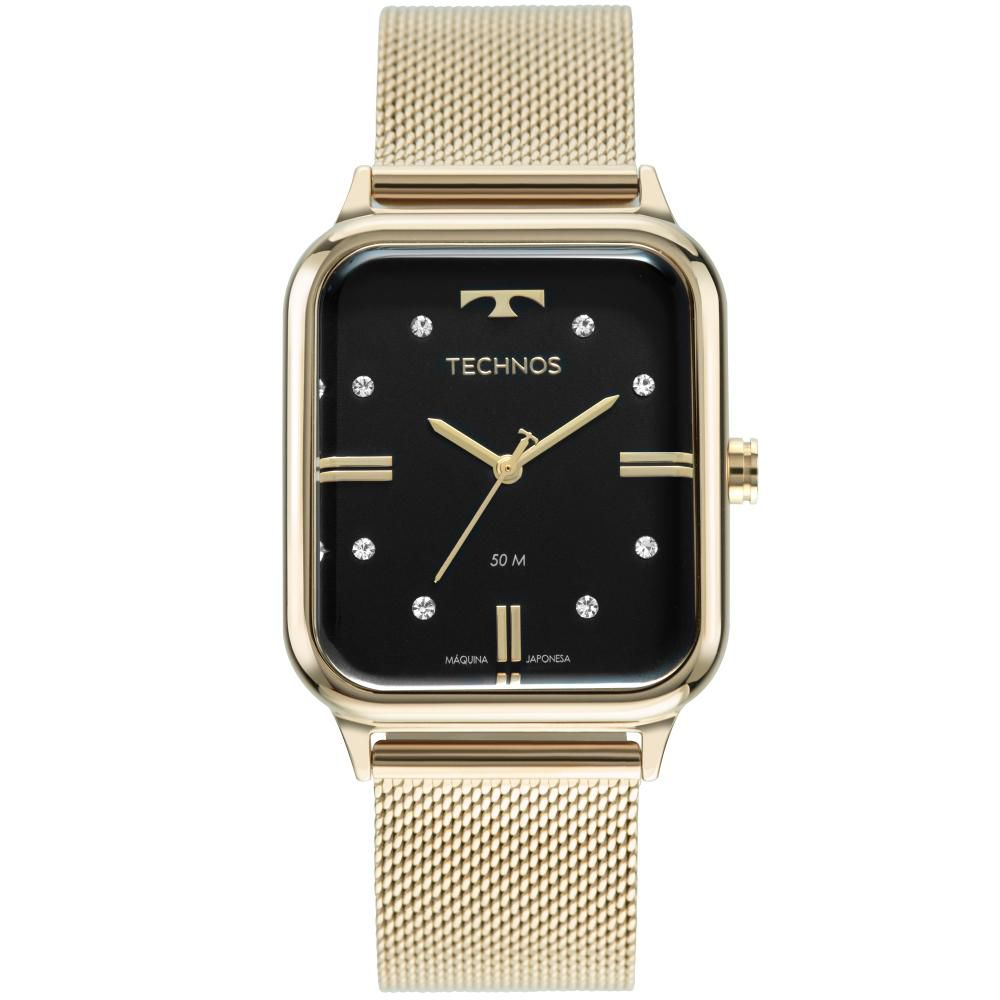 Relógio Feminino Technos Style 2039CQ/1P 33mm Aço Dourado