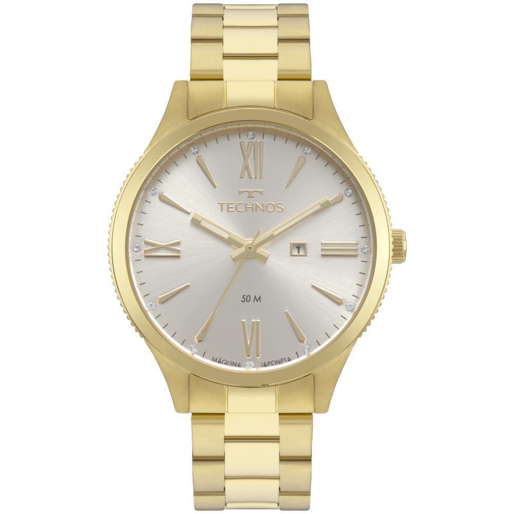 Relógio Feminino Technos Trend 2015CCP/4K 41mm Aço Dourado