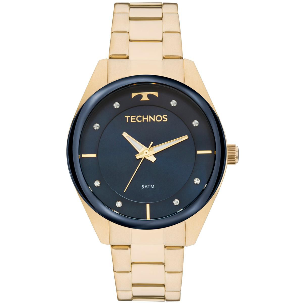 edc001f4de2 Relógio Feminino Technos Trend 2035MKX 1A 38mm Aço Dourado