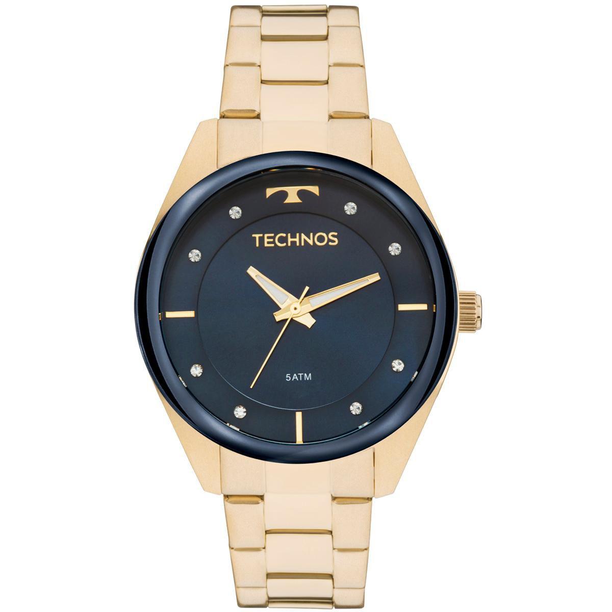 Relógio Feminino Technos Trend 2035MKX/1A 38mm Aço Dourado