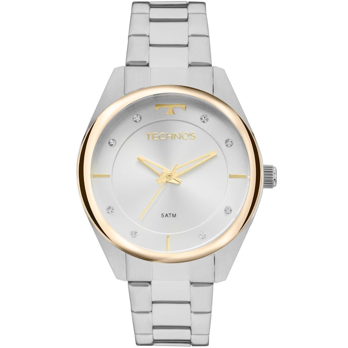 Relógio Feminino Technos Trend 2035MKY/1K Pulseira Aço Prata
