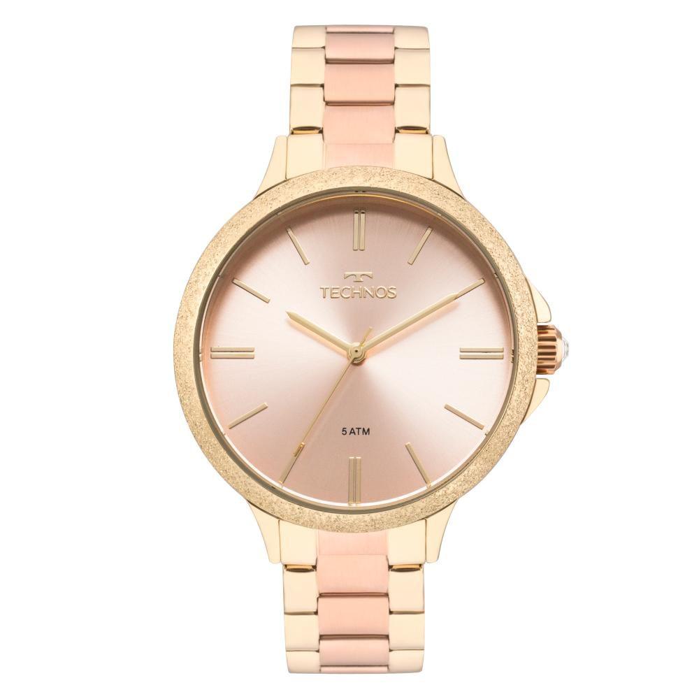 Relógio Feminino Technos Trend 2035MMB/4T 40mm Aço Bicolor Dourado/Rose