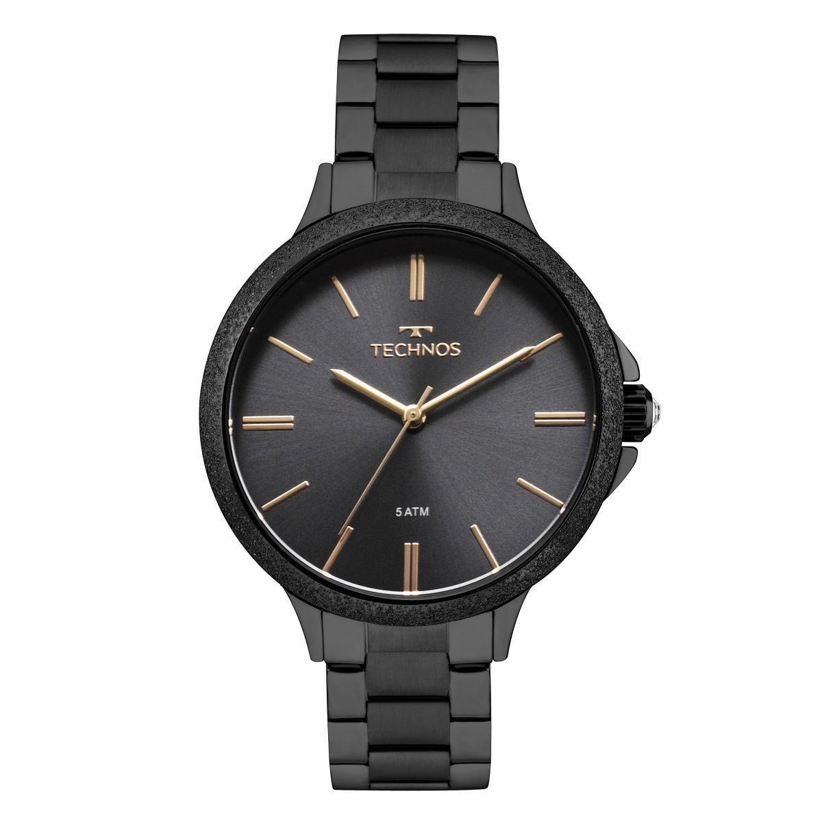 Relógio Feminino Technos Trend 2035MMD/4P 40mm Aço Preto