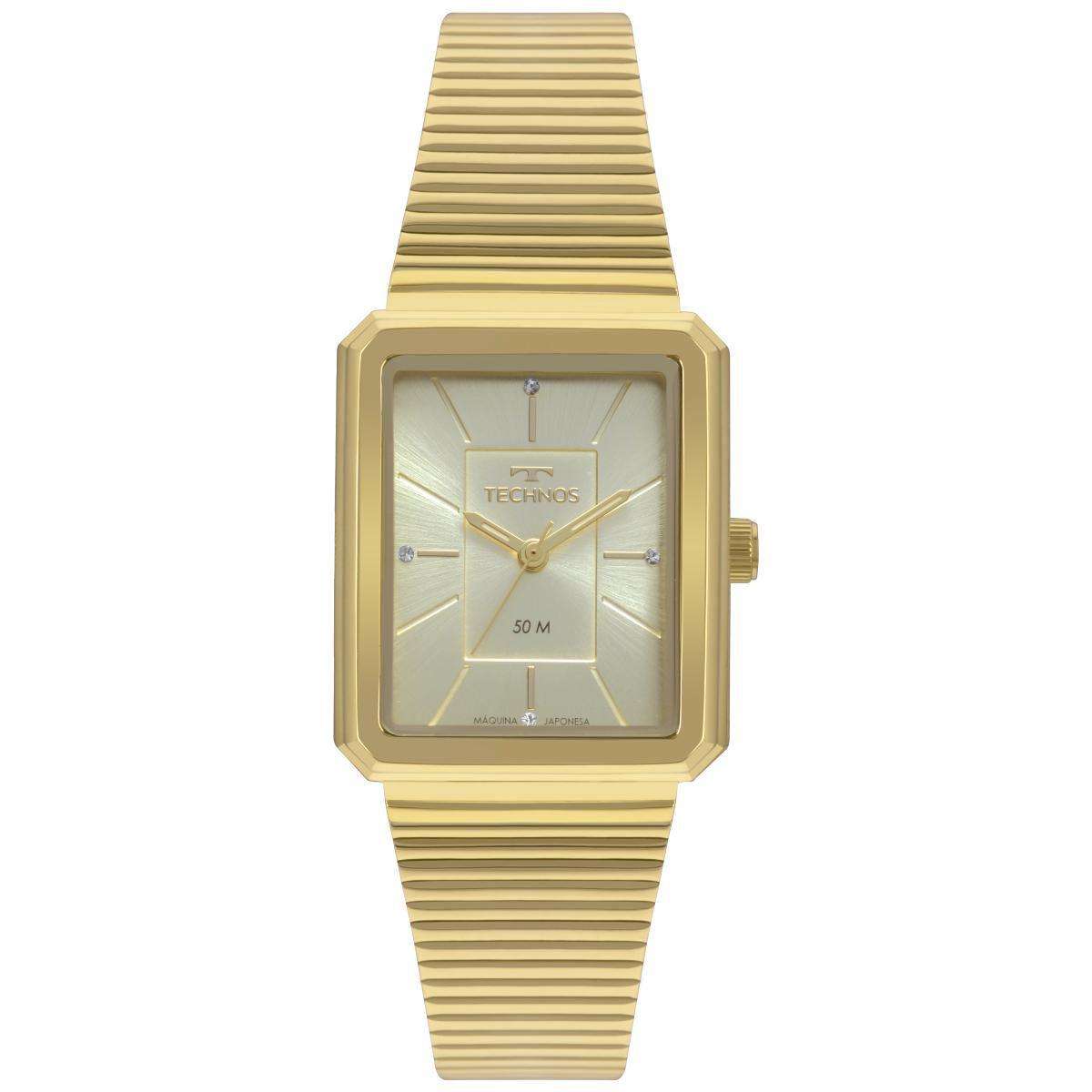 Relógio Feminino Technos Trend 2035MRB/4X 27mm Aço Dourado