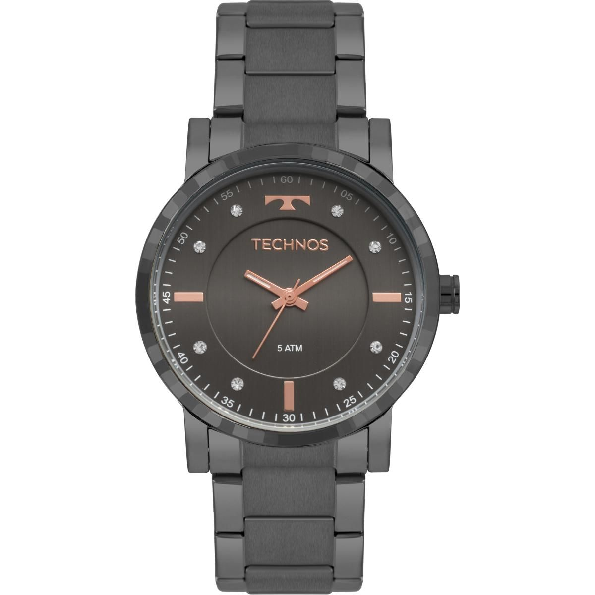 Relógio Feminino Technos Trend 2036MJR/4C 38mm Aço Grafite