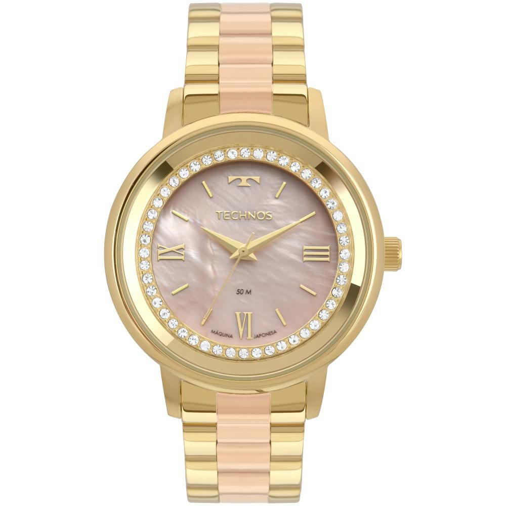 Relógio Feminino Technos Trend 2036MKY/5J 40mm Aço Bicolor Dourado/Rose