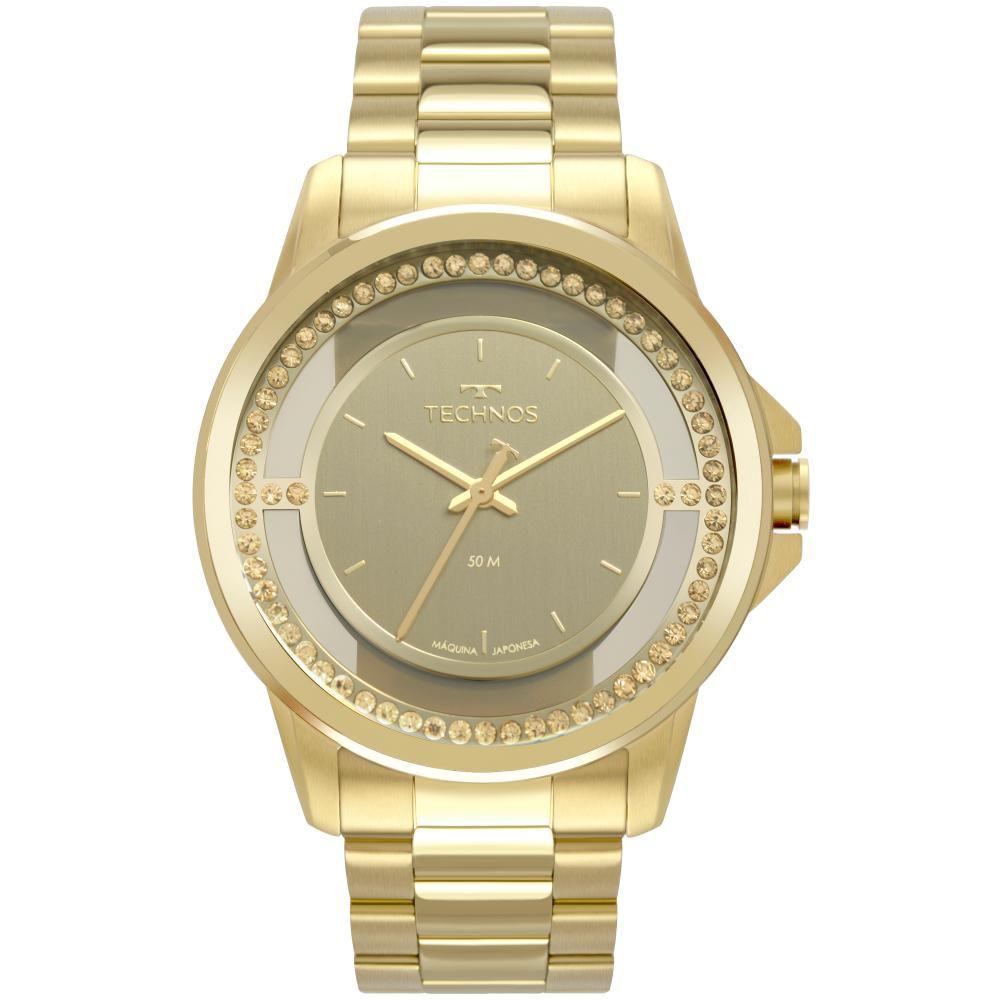 Relógio Feminino Technos Trend 2039CI/4X 40mm Aço Dourado