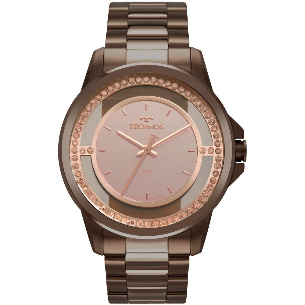Relógio Feminino Technos Trend 2039CJ/4J 40mm Aço Marrom