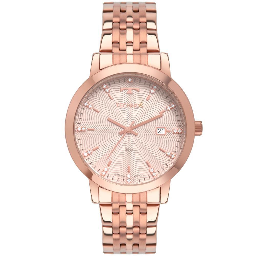 Relógio Feminino Technos Trend 2117LAP/4K 38mm Aço Rose