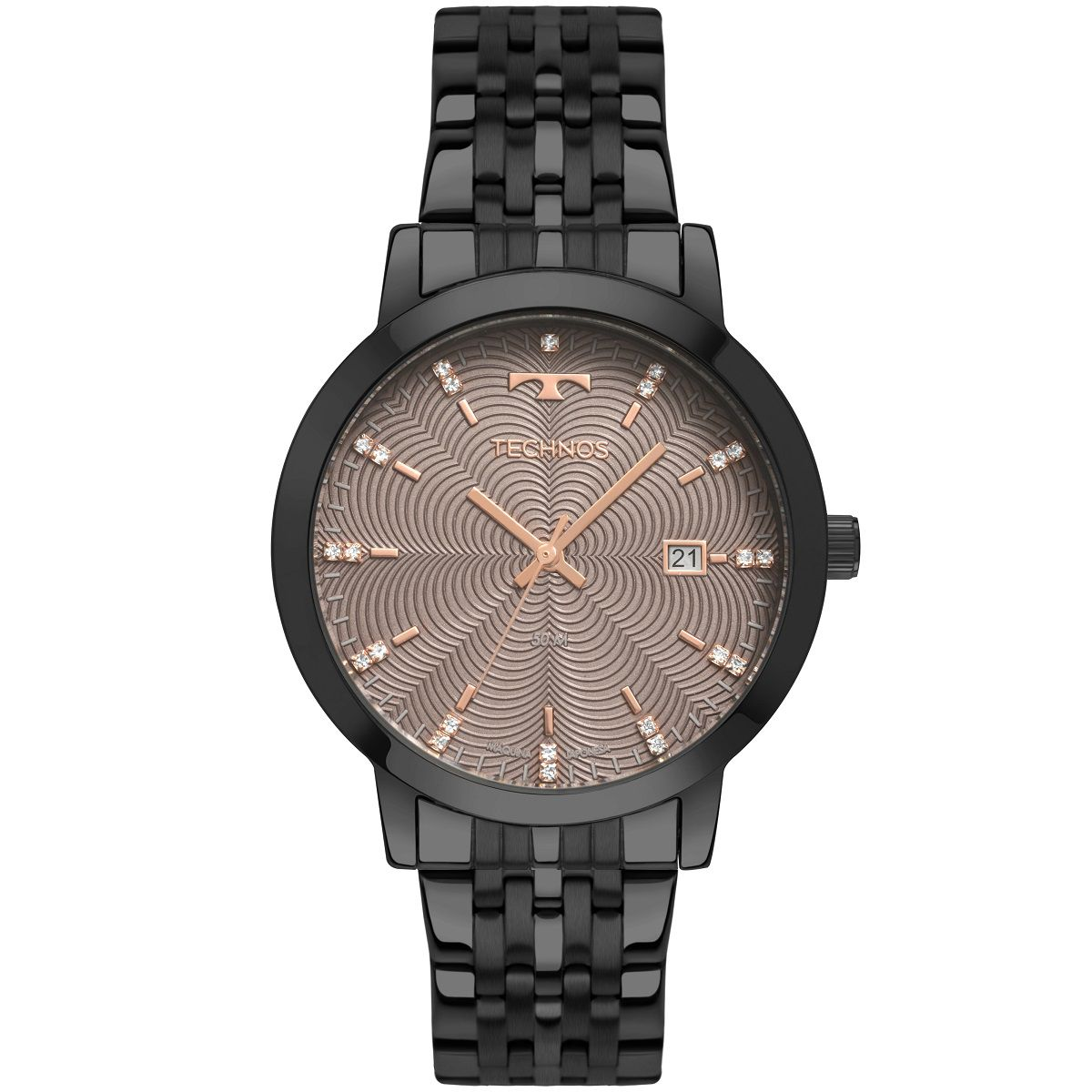 Relógio Feminino Technos Trend 2117LAQ/4T 38mm Aço Preto