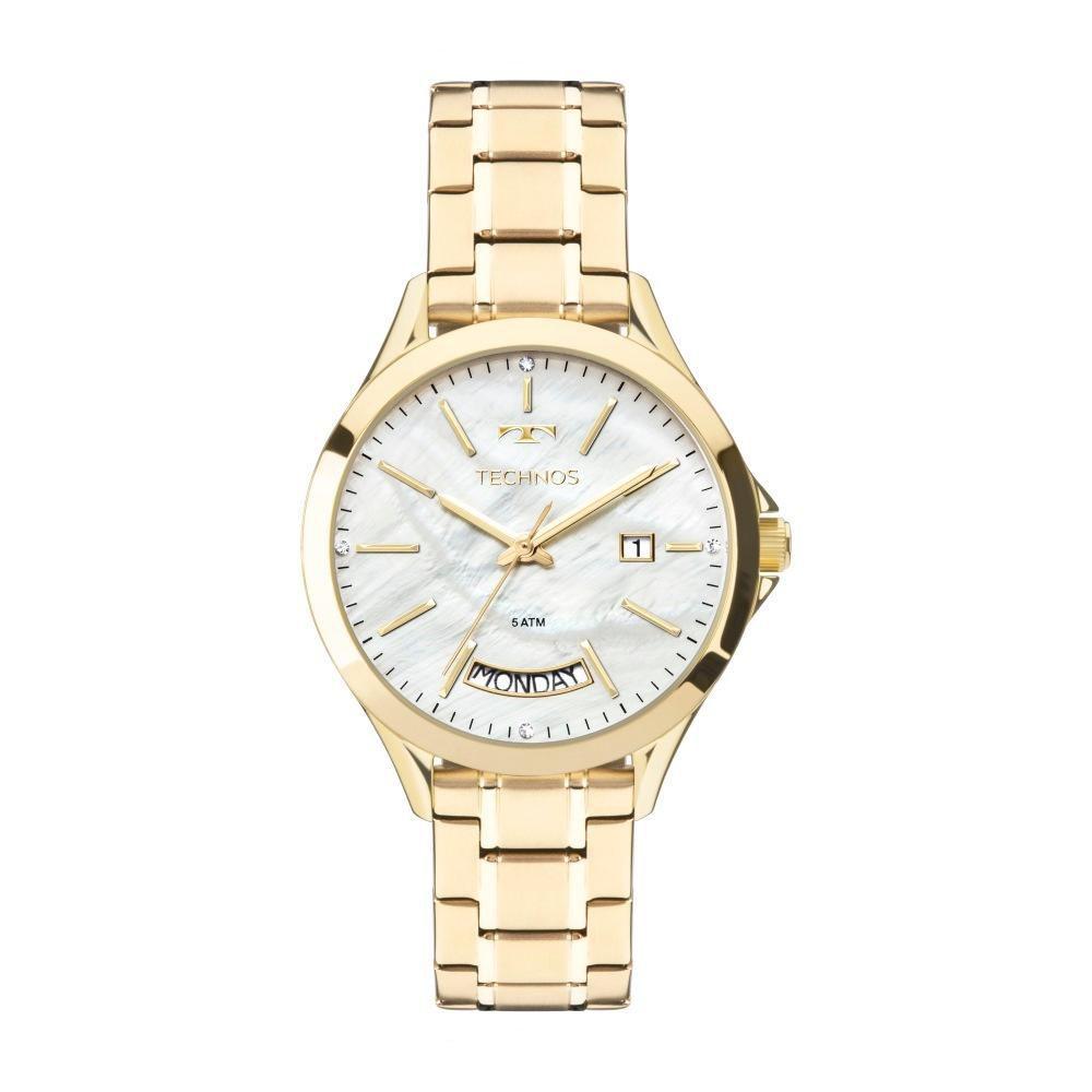Relógio Feminino Technos Trend 2350AE/4B 37mm Aço Dourado