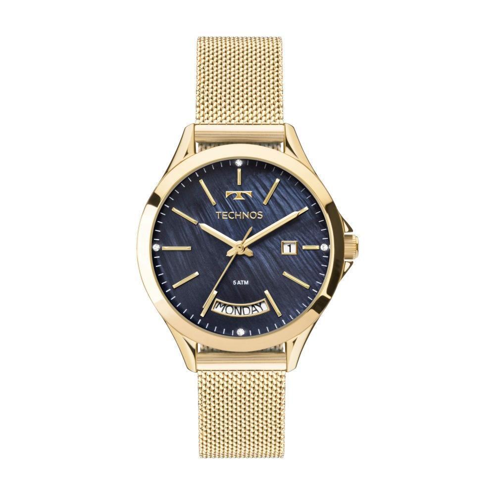 Relógio Feminino Technos Trend 2350AF/4A 37mm Aço Dourado