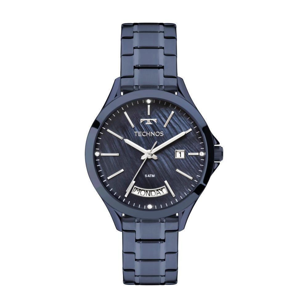Relógio Feminino Technos Trend 2350AG/4A 37mm Aço Azul
