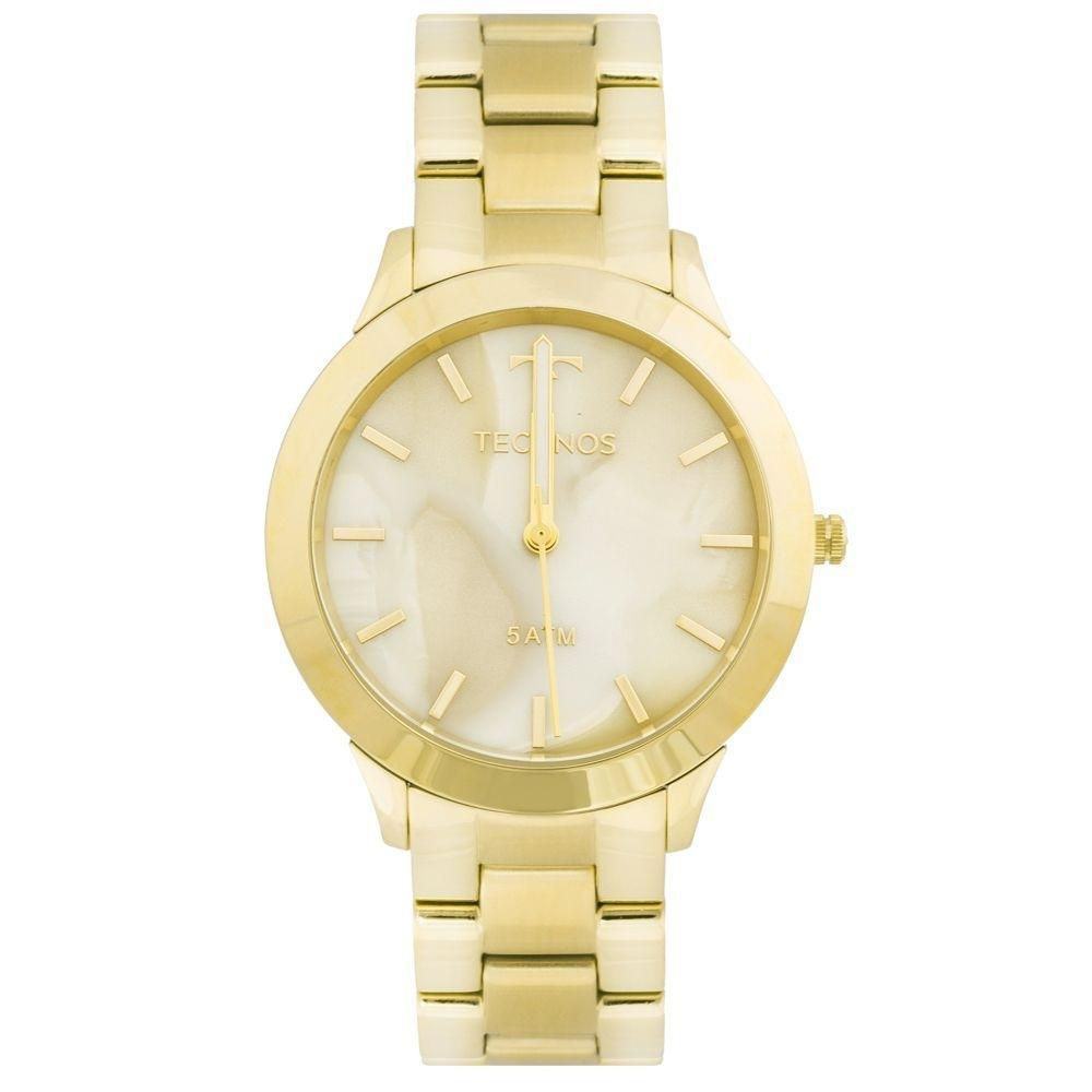 7ffa364abf9 Relógio Feminino Technos Y121E5DF 4X Aço Dourado