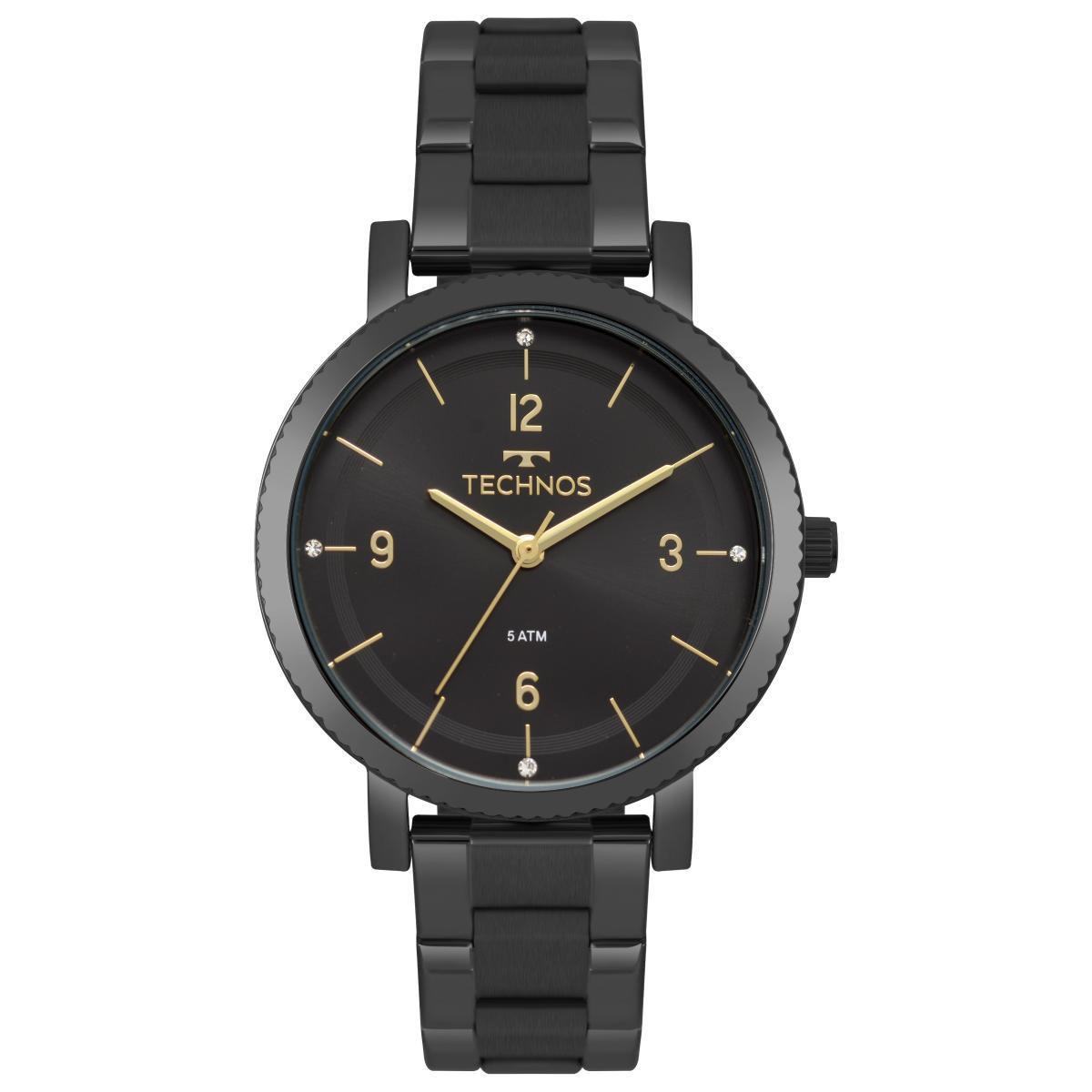 Relógio Feminino Technos Dress 2035MPS/4P 36mm Aço Preto