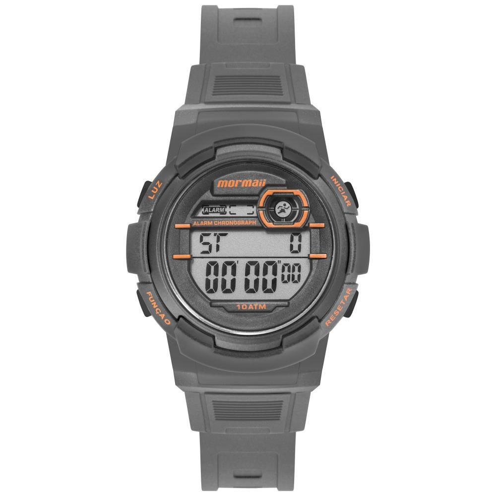 Relógio Infantil Mormaii Fun MO0201C/8L 40mm Borracha Cinza