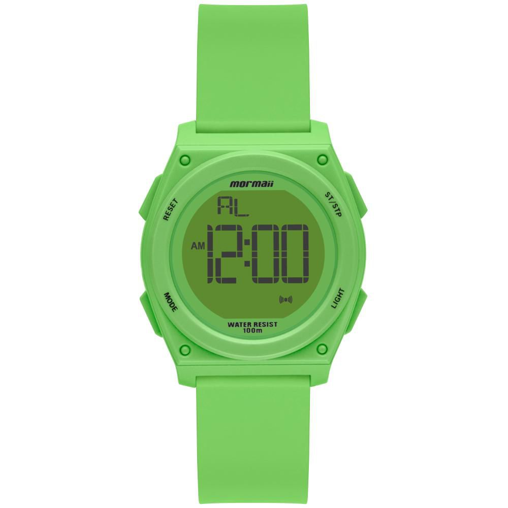 Relógio Infantil Mormaii MO9450AB/8V 36mm Silicone Verde