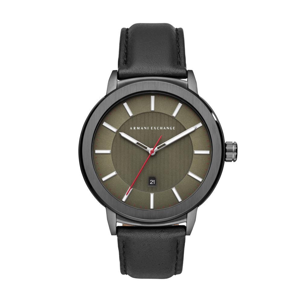 Relógio Masculino Armani Exchange AX1473/0FN 46mm Couro Preto