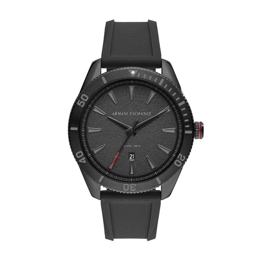 Relógio Masculino Armani Exchange AX1829/8PN 46mm Silicone Preto