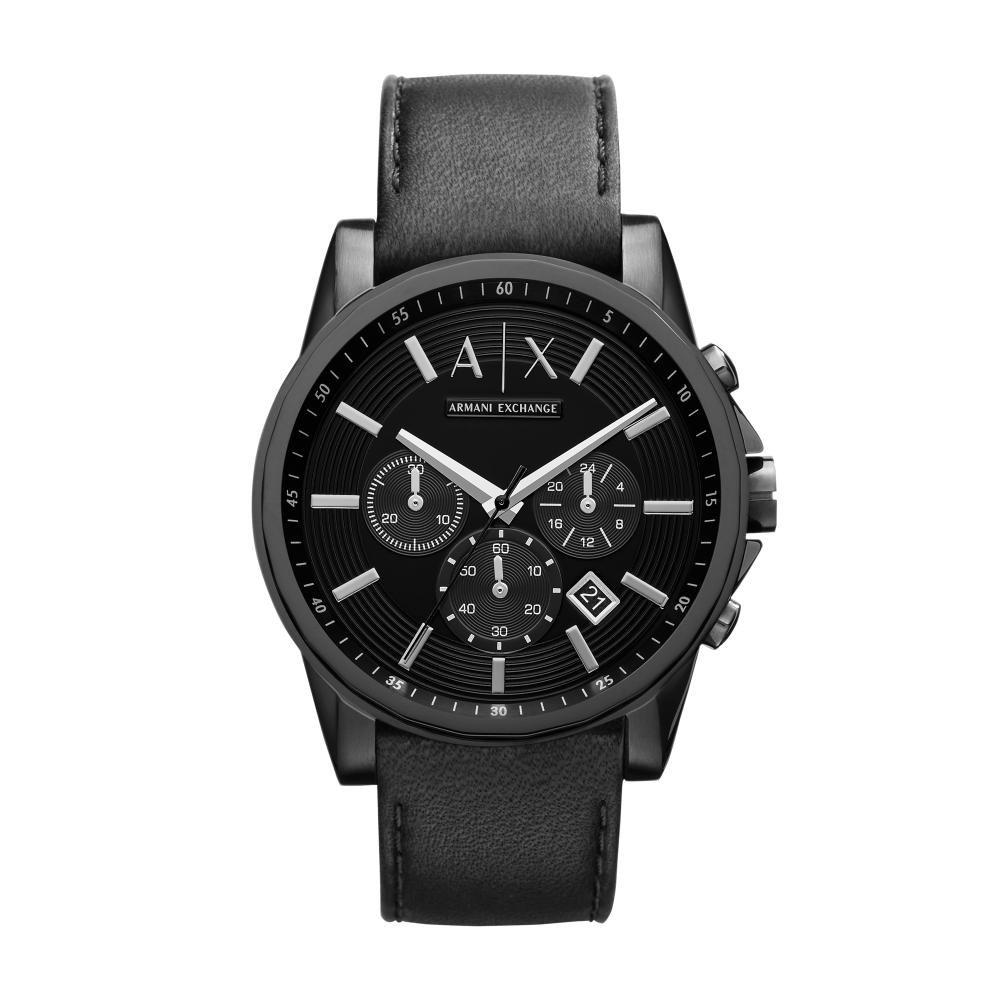 Relógio Masculino Armani Exchange AX2098/0PN 44mm Couro Preto