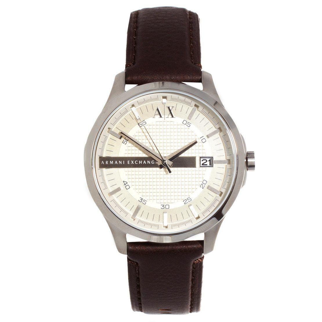 Relógio Masculino Armani Exchange AX2100/0KN 47mm Couro Marrom