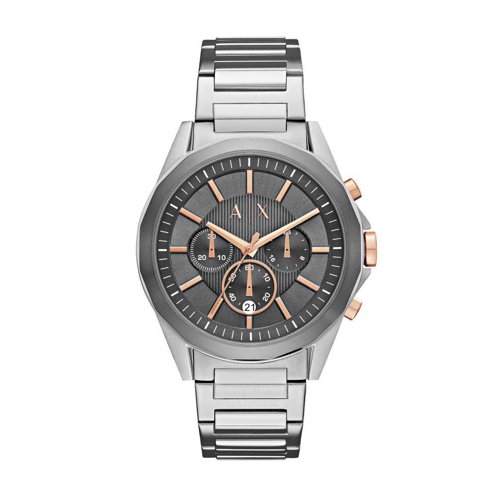 Relógio Masculino Armani Exchange AX2606/1KN 44mm Aço Prata