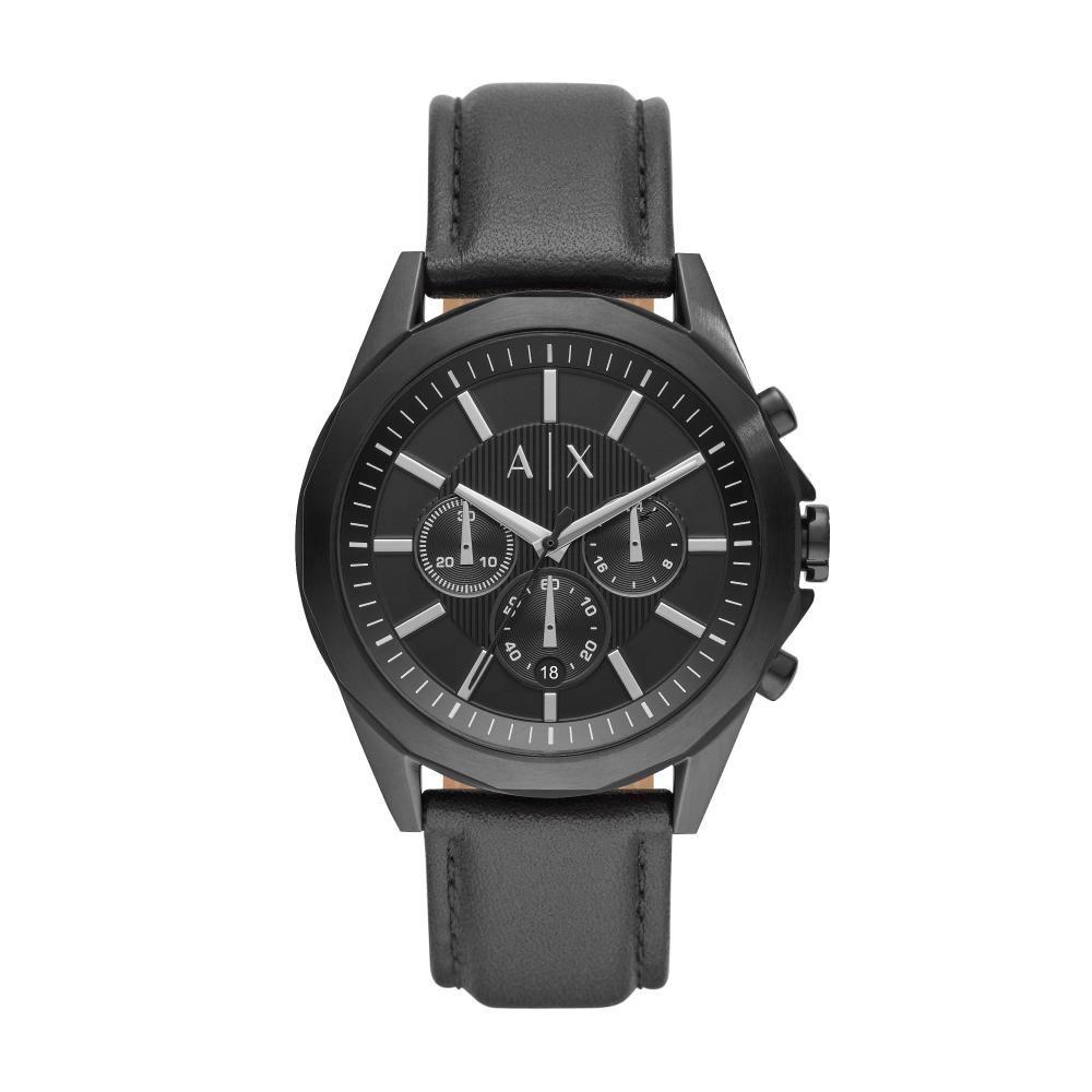 Relógio Masculino Armani Exchange AX2627/0PN 44mm Couro Preto