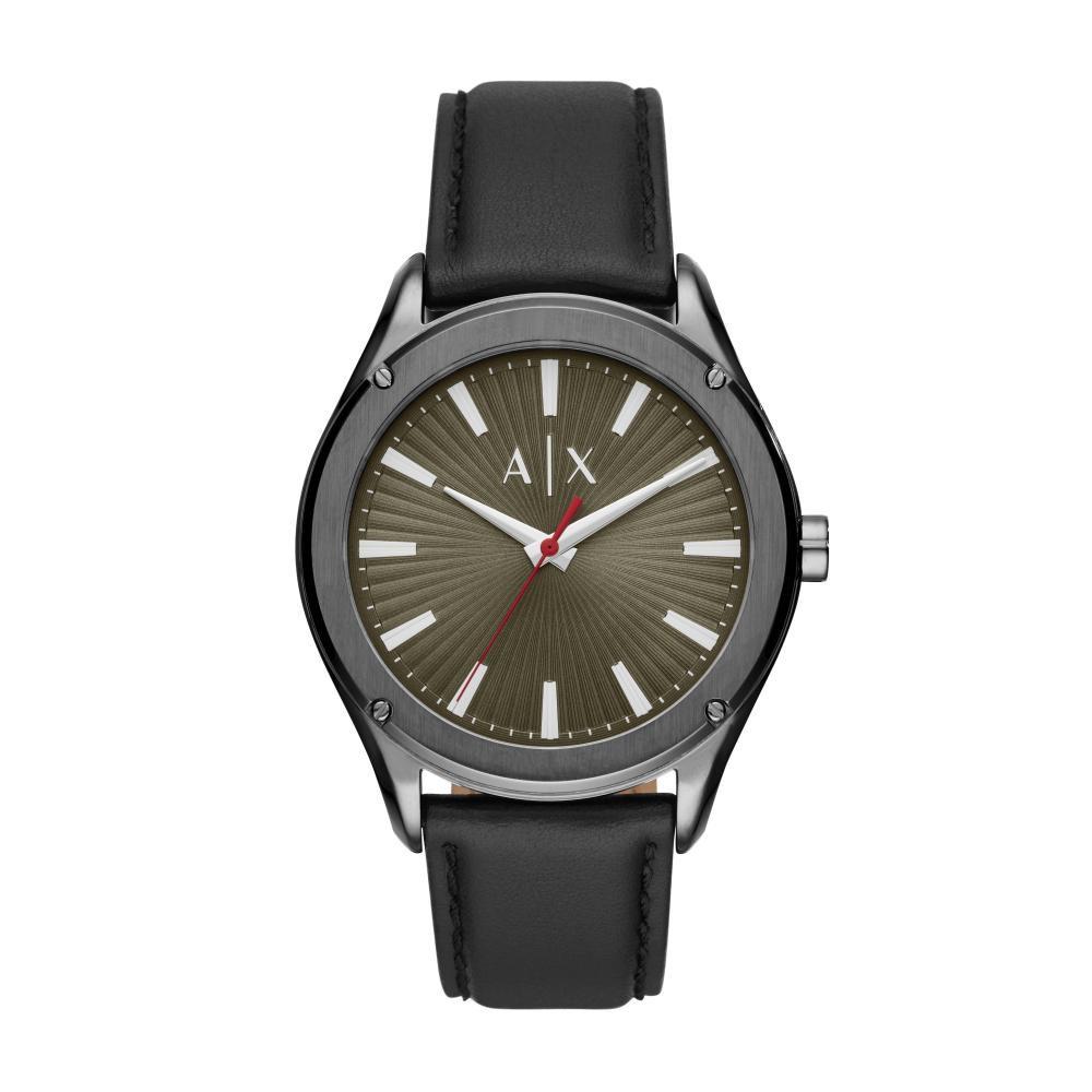 Relógio Masculino Armani Exchange AX2806/OPN 43mm Couro Preto