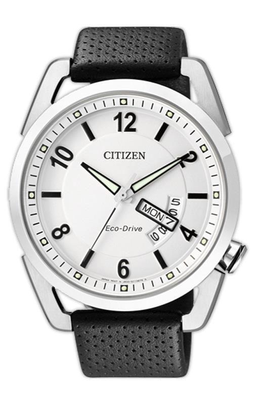 Relógio Masculino Citizen Eco-Drive TZ20028Q 42mm Couro Preto