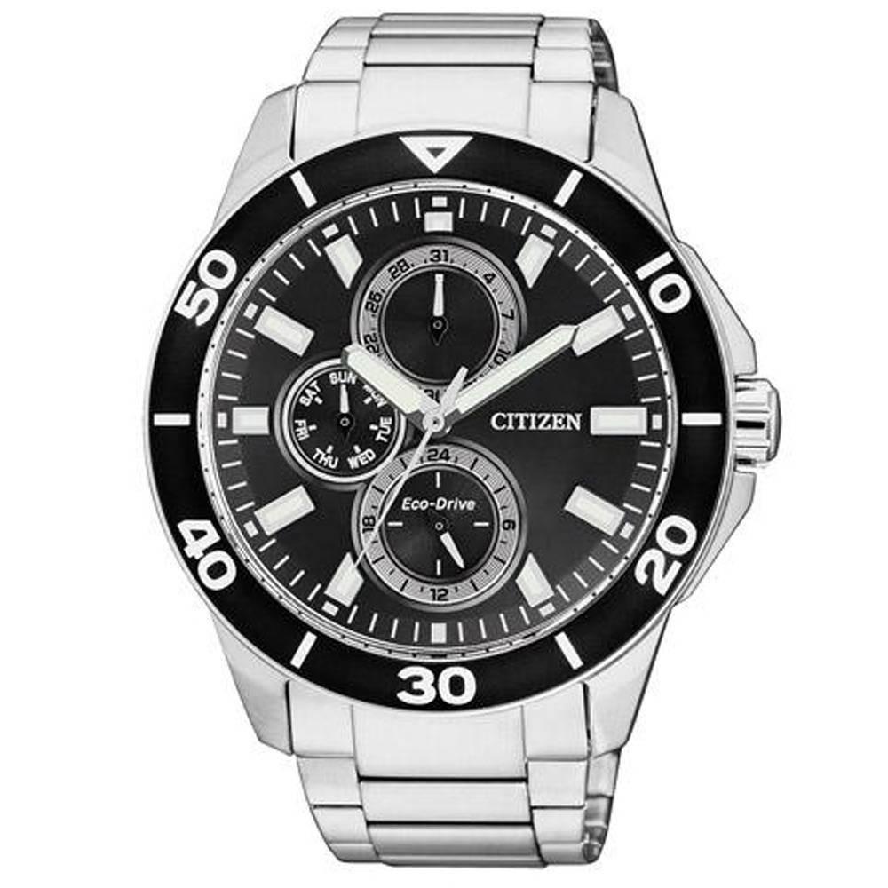 Relógio Masculino Citizen Eco-Drive TZ30491T 43mm Aço Prata