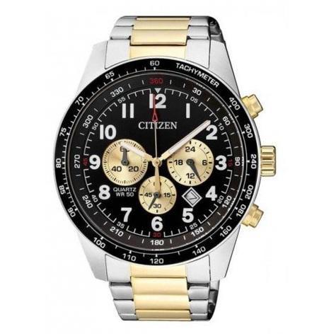 Relógio Masculino Citizen TZ30964P 44mm Aço Bicolor Prata/Dourado