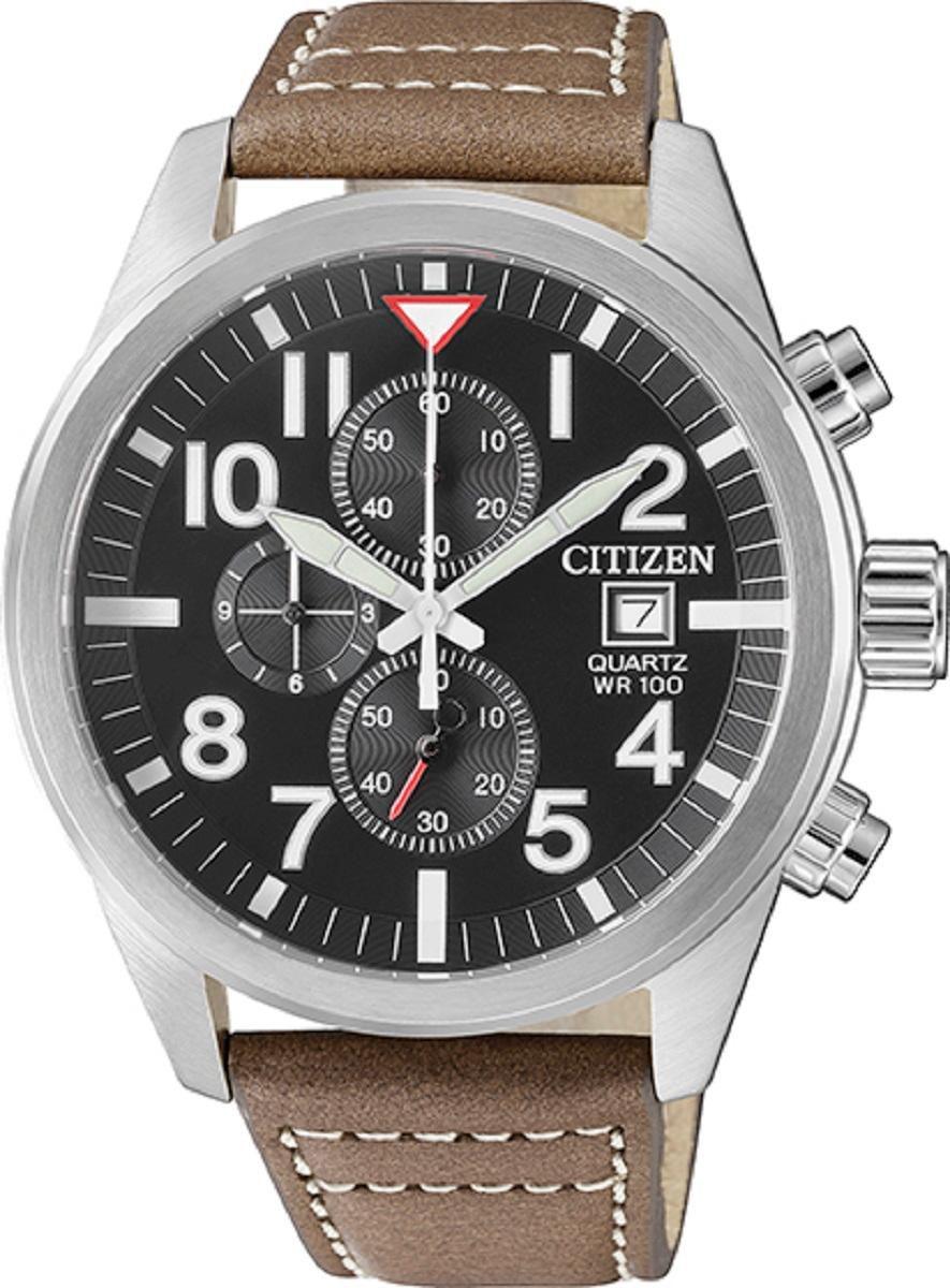 Relógio Masculino Citizen TZ31178W 43mm Couro Marrom