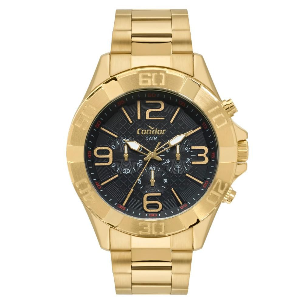 Relógio Masculino Condor Civic COVD54BD/4P 50mm Aço Dourado