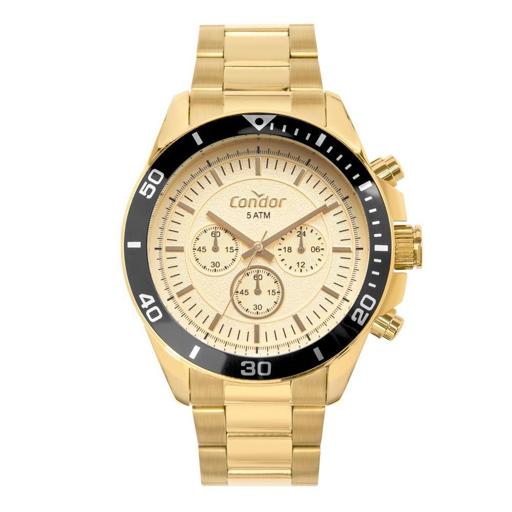 Relógio Masculino Condor Civic COVD54BH/4X 48mm Aço Dourado