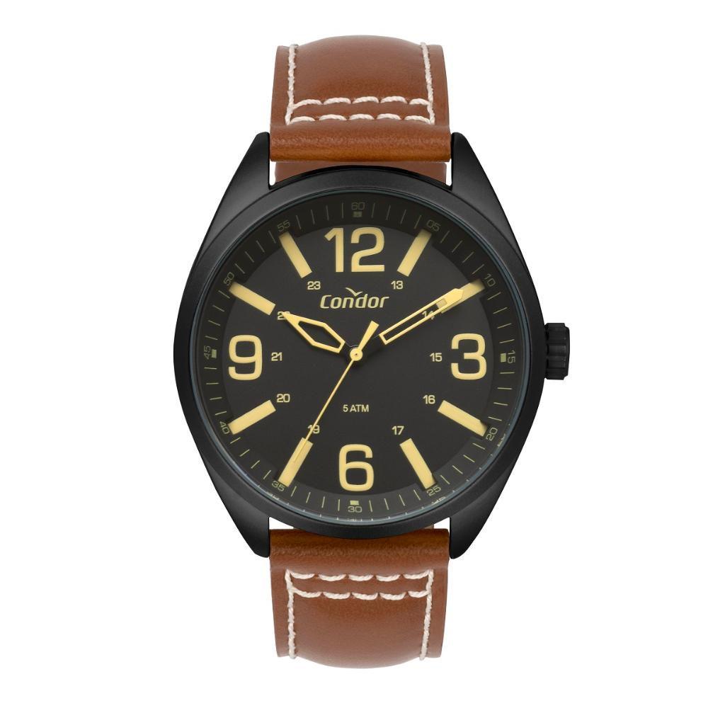 Relógio Masculino Condor CO2035MPE/2P 45mm Couro Marrom
