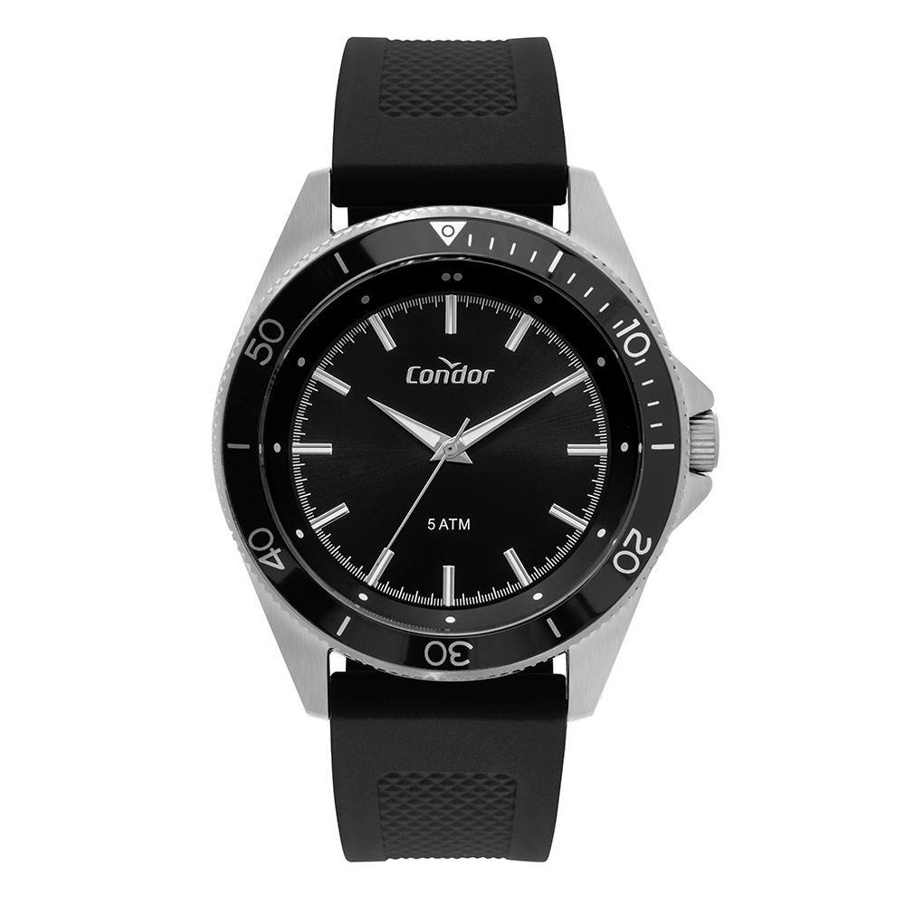 Relógio Masculino Condor CO2035MTK/3P 48mm Silicone Preto