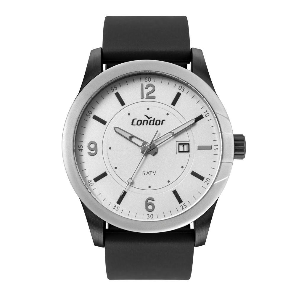 Relógio Masculino Condor CO2115KWS/2B 46mm Silicone Preto