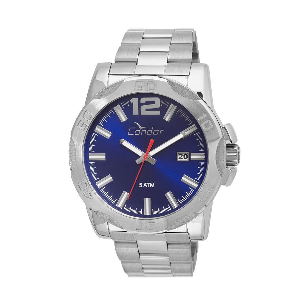 Relógio Masculino Condor CO2415BG/3A Pulseira Aço Prata