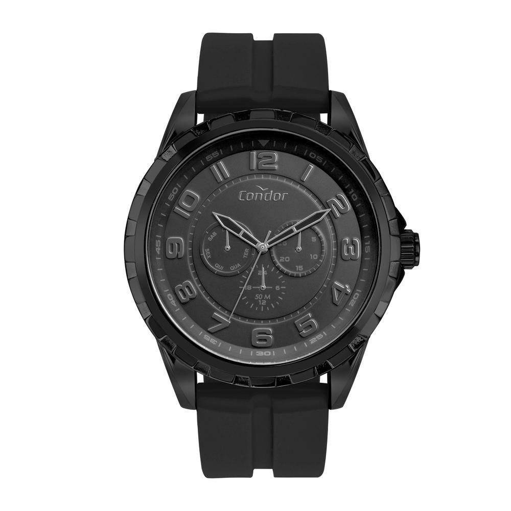 Relógio Masculino Condor CO6P29JB/2P 54mm Silicone Preto