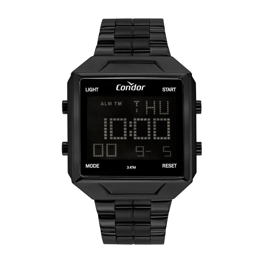 Relógio Masculino Condor Digital COBJ2649AD/4P 42mm Aço Preto