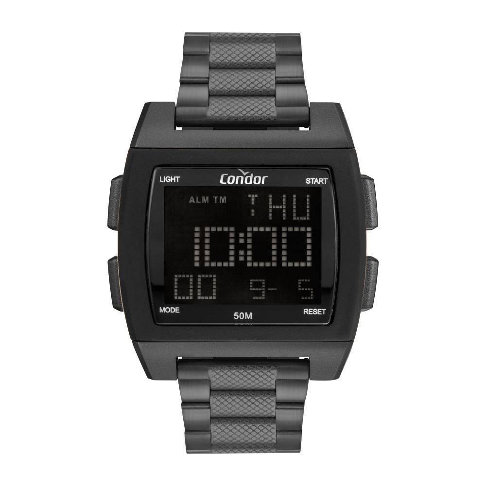 Relógio Masculino Condor Digital COBJ2649AG/8C 46mm Aço Grafite