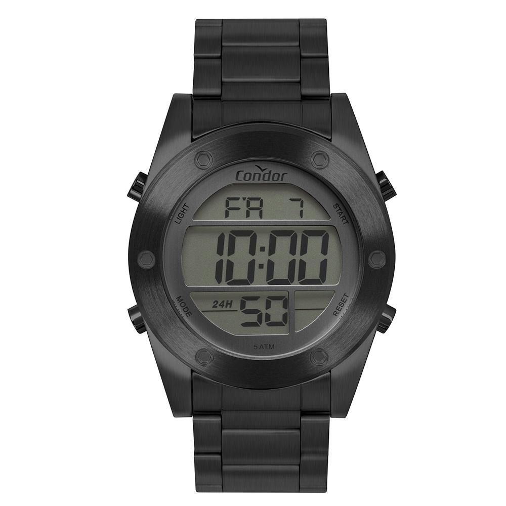 Relógio Masculino Condor Digital COBJ3463AE/4C 46mm Aço Grafite