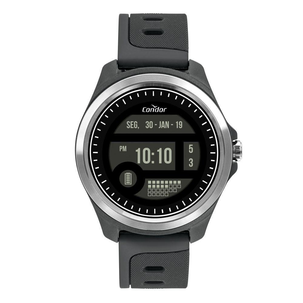 Relógio Masculino Condor Digital COKW05CAA/8C 48mm Silicone Cinza