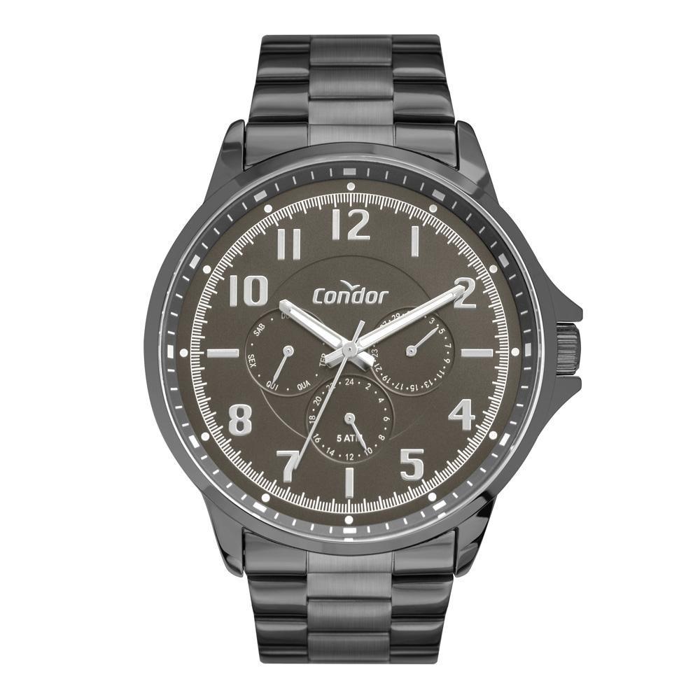 Relógio Masculino Condor Traveller CO6P29JI/4C 46mm Aço Grafite