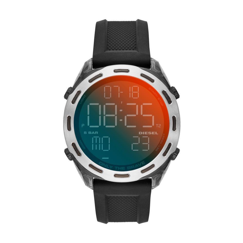 Relógio Masculino Diesel Crusher Digital DZ1893/8PN 47mm Silicone Preto