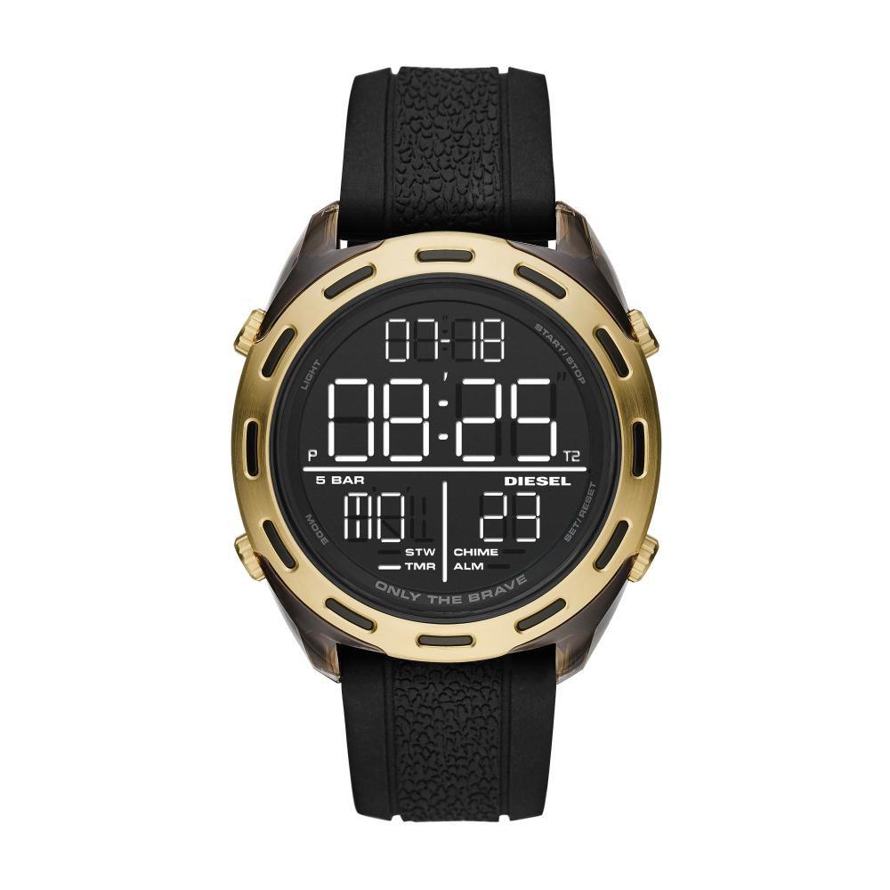 Relógio Masculino Diesel Crusher DZ1901/8PN 47mm Silicone Preto