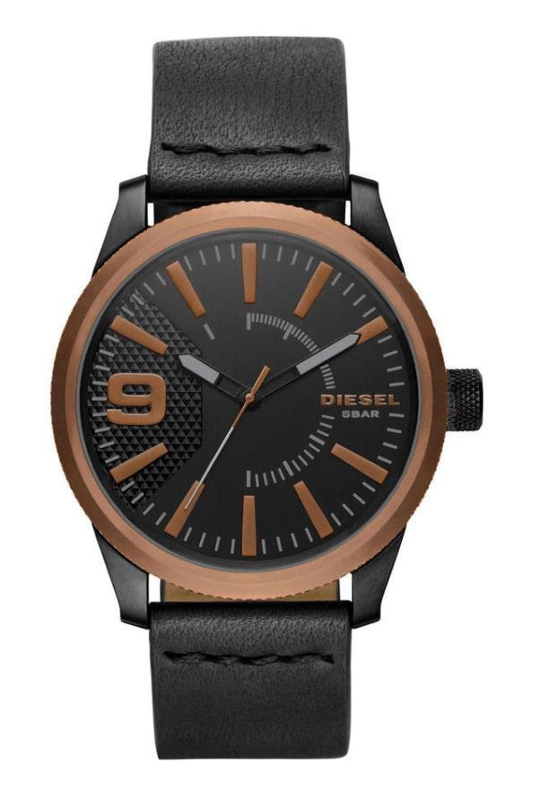 Relógio Masculino Diesel DZ1841/0PI Couro Preto 47mm