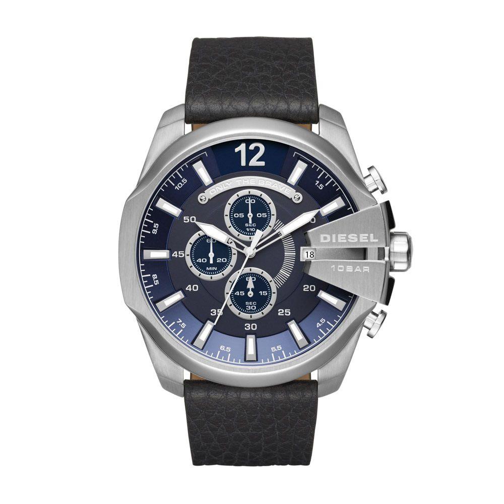 2f267801298 Relógio Masculino Diesel DZ4423 0AN 52mm Pulseira Couro Preta