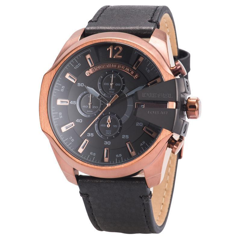 Relógio Masculino Diesel DZ4459/0PN Couro Preto 53mm